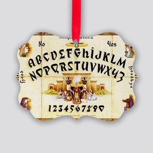 Vintage Egyptian Ouija Board Picture Ornament