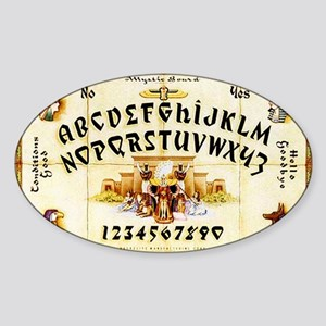 Vintage Egyptian Ouija Board Sticker (Oval)