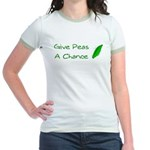 Give Peas a Chance Jr. Ringer T-Shirt