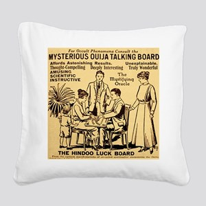 Vintage ouija talking board A Square Canvas Pillow