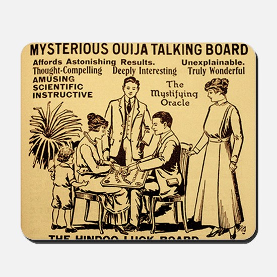 Vintage ouija talking board Ad Mousepad