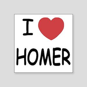 """I heart HOMER Square Sticker 3"""" x 3"""""""