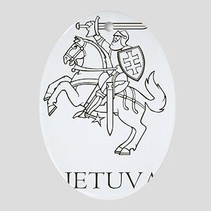 Lithuania Oval Ornament
