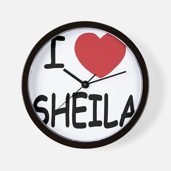 I heart SHEILA Wall Clock