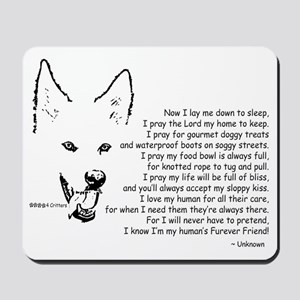 Now I Lay Me Down To Sleep Paws4Critters Mousepad