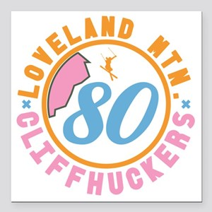 "Loveland Cliffhuckers Square Car Magnet 3"" x 3"""