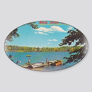 Pine Haven Post Card Sticker (Oval)