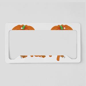 Halloween Pumpkin Harry License Plate Holder