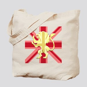 Red Union Jack Lion Rampant Tote Bag