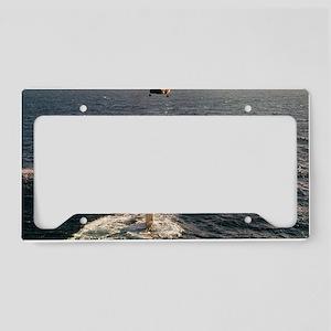 gc uss george washington carv License Plate Holder