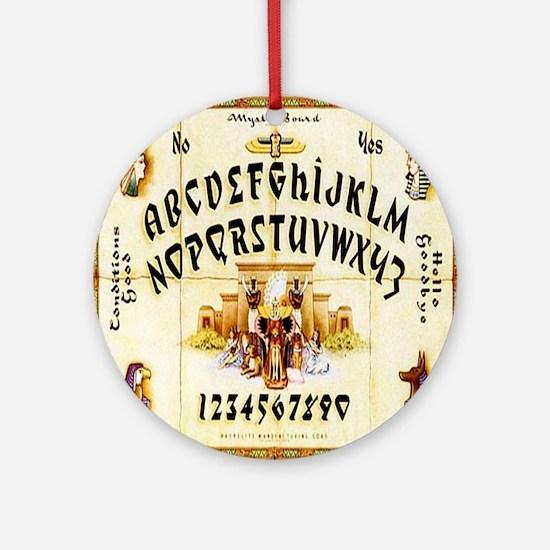 Vintage Egyptian Ouija Board Round Ornament