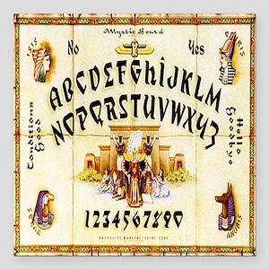"Vintage Egyptian Ouija B Square Car Magnet 3"" x 3"""