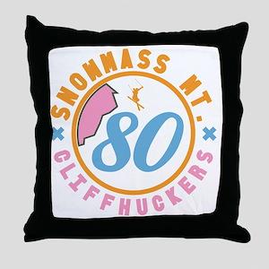 Snowmass Cliffhuckers Throw Pillow