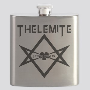 Thelemite - Love Is The Law Occult T-shirt Flask