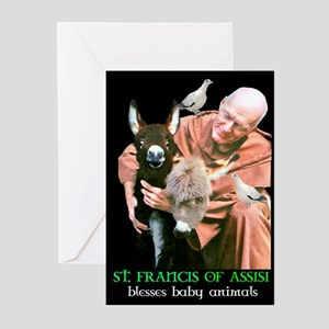 ST. FRANCIS OF ASSISI BLESSES Greeting Cards (Pack