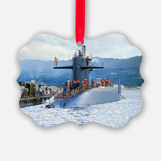 pc uss henry clay post card Ornament
