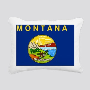 Montana State Flag Rectangular Canvas Pillow
