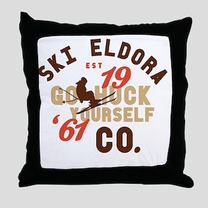 Go Huck Yourself Eldora Throw Pillow