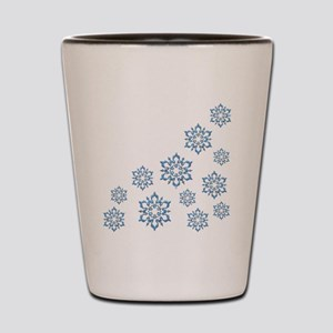 ICY BLUE SNOWFLAKES Shot Glass