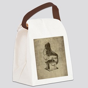Vintage Phonograph Canvas Lunch Bag