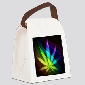 Rainbow Weed Canvas Lunch Bag