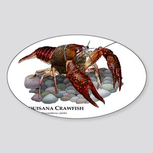 Louisiana Crawfish Sticker (Oval)