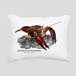 Louisiana Crawfish Rectangular Canvas Pillow
