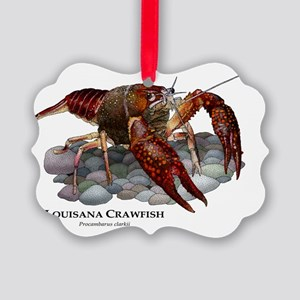 Louisiana Crawfish Picture Ornament