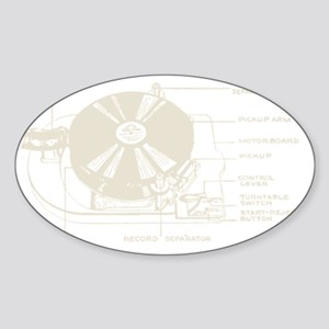 Turntable Sticker (Oval)