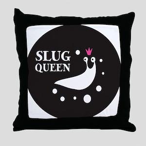 Slug Queen Logo Throw Pillow