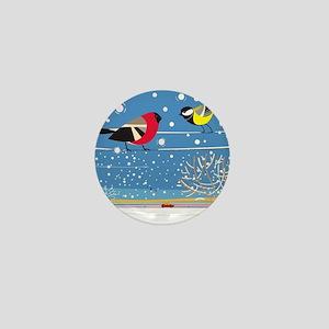Winter Birds on a Wire Mini Button
