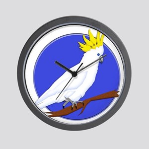 Yellow Crested Tropical Cockatoo Wall Clock