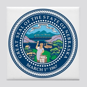 Nebraska State Seal Tile Coaster