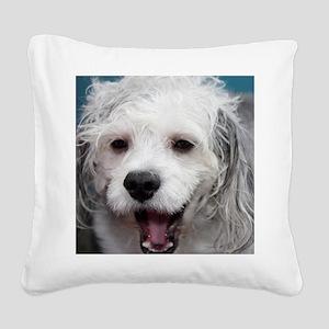 Laughing Yogi Square Canvas Pillow