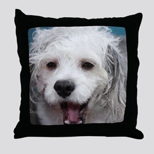 Laughing Yogi Throw Pillow
