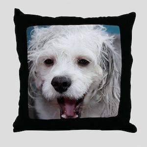 Laughing Yogi Throw Pillow
