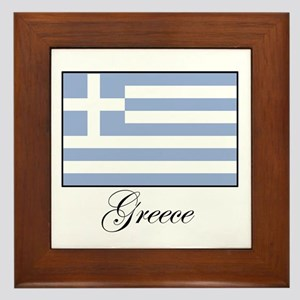Greece - Flag Framed Tile