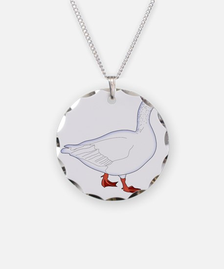 White Goose Necklace