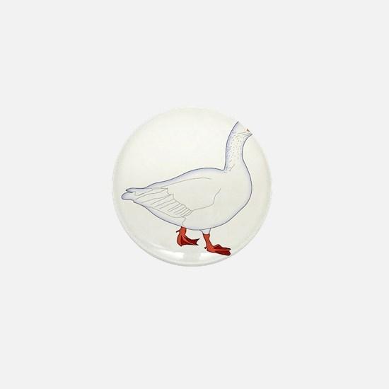 White Goose Mini Button