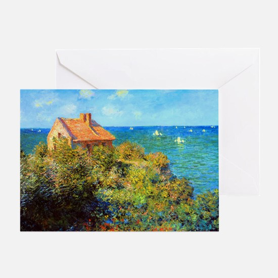 Claude Monet Fisherman Cottage Greeting Card