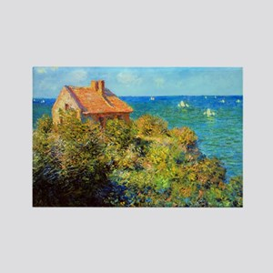 Claude Monet Fisherman Cottage Rectangle Magnet