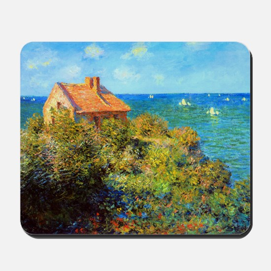 Claude Monet Fisherman Cottage Mousepad