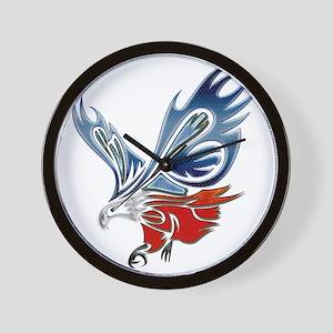 Metallic Grunge Eagle Tattoo Wall Clock