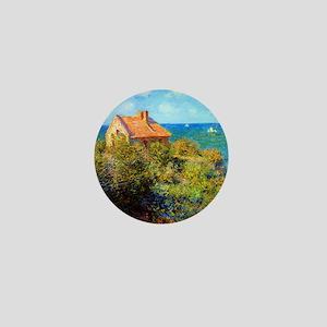 Claude Monet Fisherman Cottage Mini Button