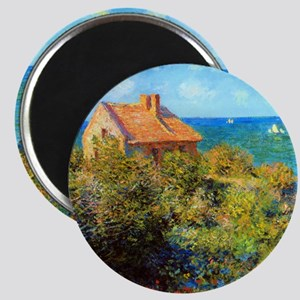 Claude Monet Fisherman Cottage Magnet