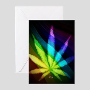 Rainbow Weed Greeting Card