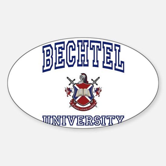 BECHTEL University Oval Decal