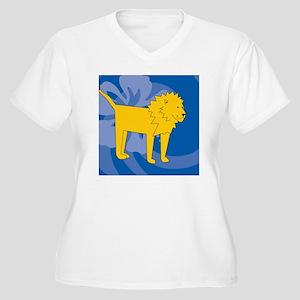 Lion Jewelry Case Women's Plus Size V-Neck T-Shirt