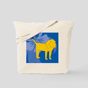 Lion Wine Label Tote Bag