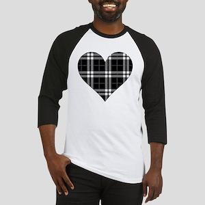 Black Plaid Heart Baseball Jersey